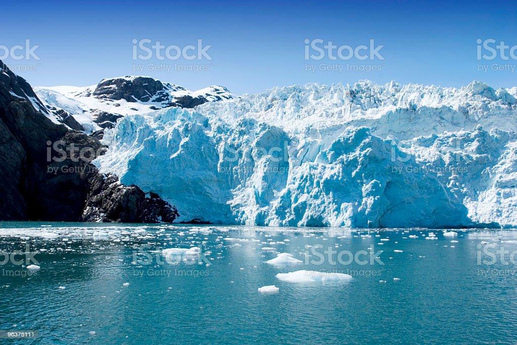 Portion of the Hubbard Glacier in Alaska and Yukon royalty-free stock photo