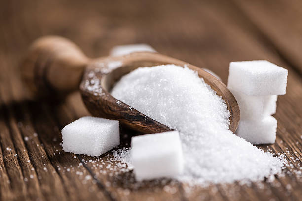 Portion of White Sugar stock photo