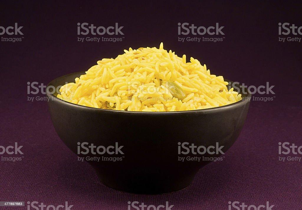 portion pilau rice royalty-free stock photo