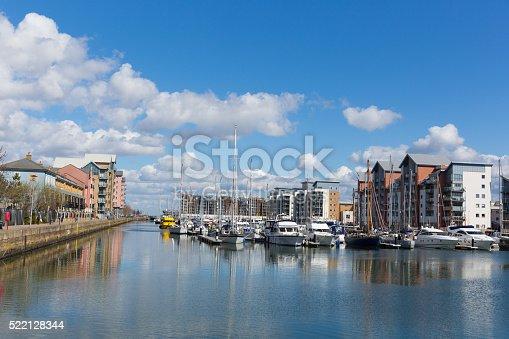 istock Portishead near Bristol Somerset England UK boats and apartments 522128344