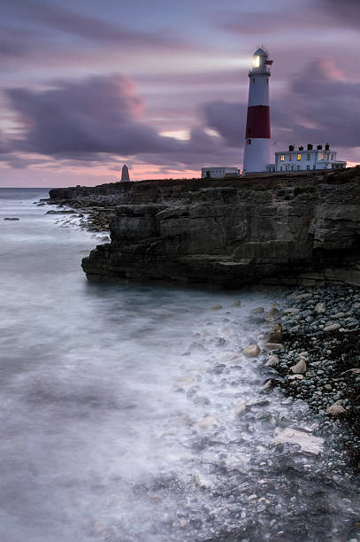 Portland Bill All Lit Up stock photo