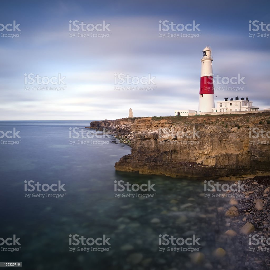 Portland Bill Dawn stock photo