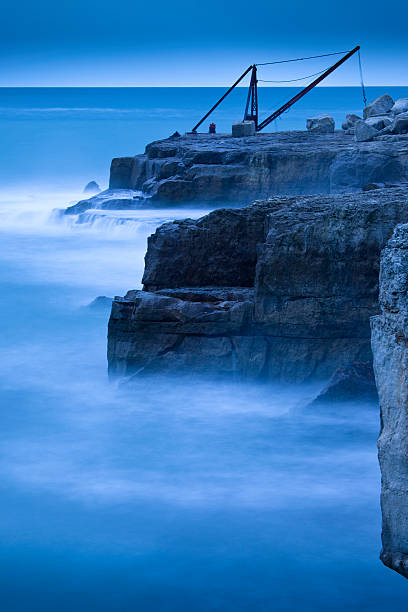 Portland Bill in Winter, Dorset, England, UK stock photo