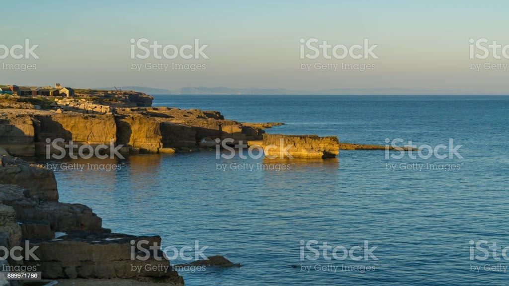 Portland Bill, Jurassic Coast, Dorset, UK stock photo