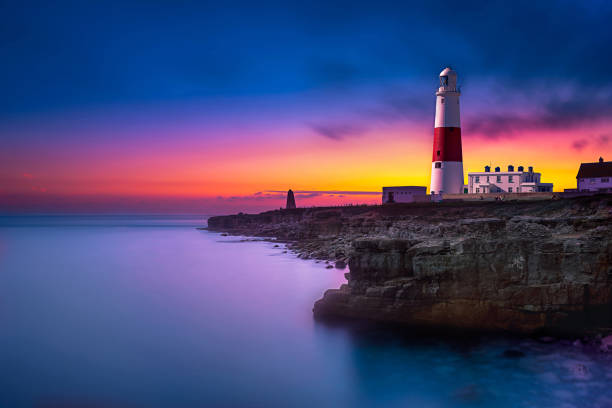 Portland Bill Lighthouse Dorset stock photo