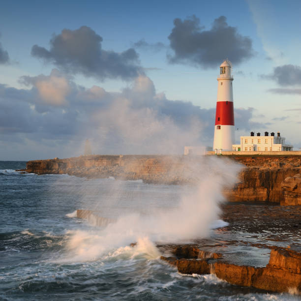 Portland Bill Lighthouse, Dorset stock photo