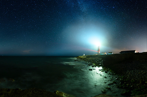 Portland Bill Lighthouse Dorset Stock Photo - Download Image Now