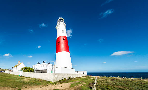 portland bill lighthouse dorset - weymouth stock photos and pictures