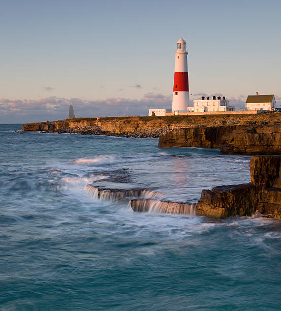 Portland Bill lighthouse, Dorset, UK stock photo