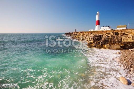 istock Portland Bill Lighthouse in Dorset, England on a sunny day 477722400