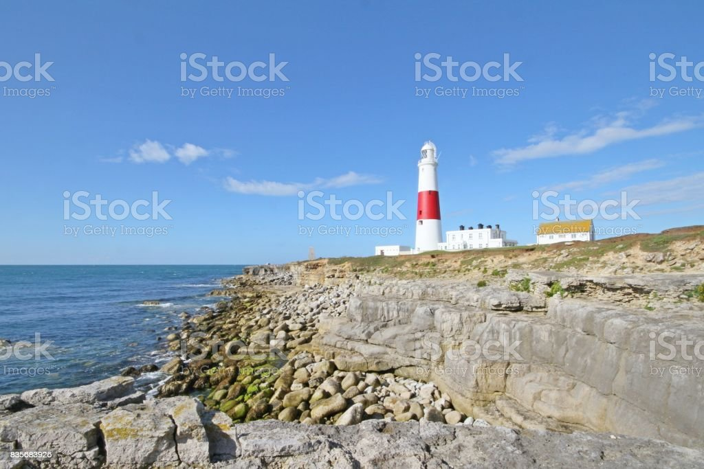 Portland Bill Lighthouse, Isle of Portland, Dorset, UK stock photo