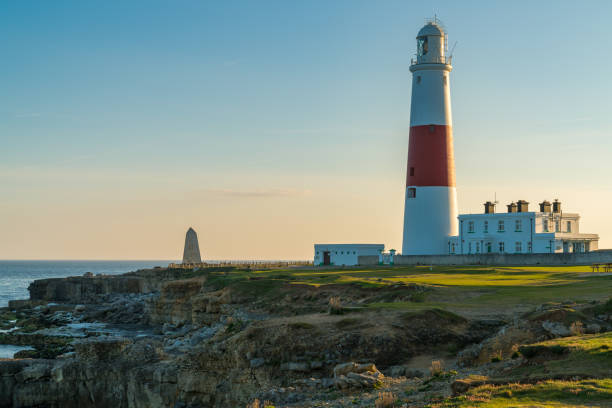 Portland Bill Lighthouse, Jurassic Coast, Dorset, UK stock photo