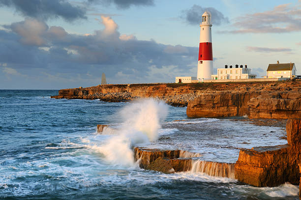 portland bill lighthouse - weymouth stock photos and pictures
