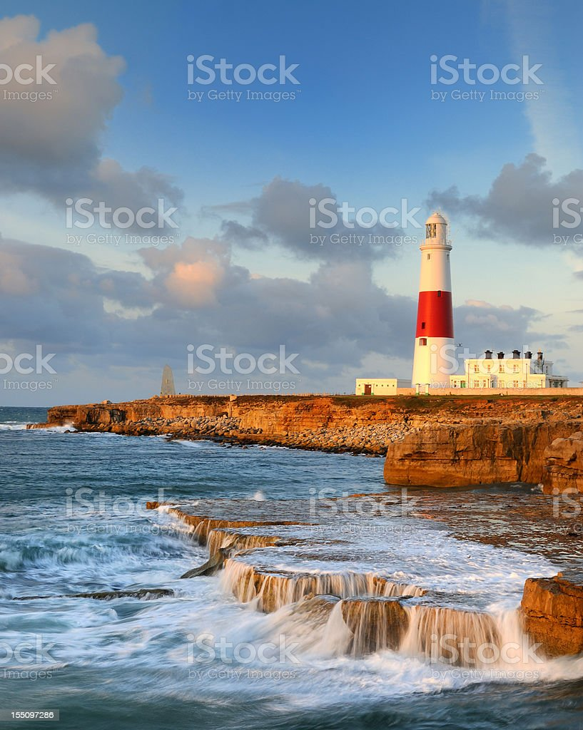 Portland Bill Lighthouse stock photo