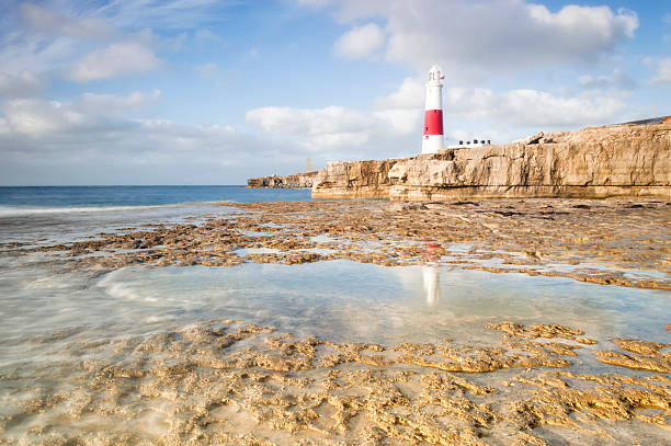 Portland Bill Reflections stock photo