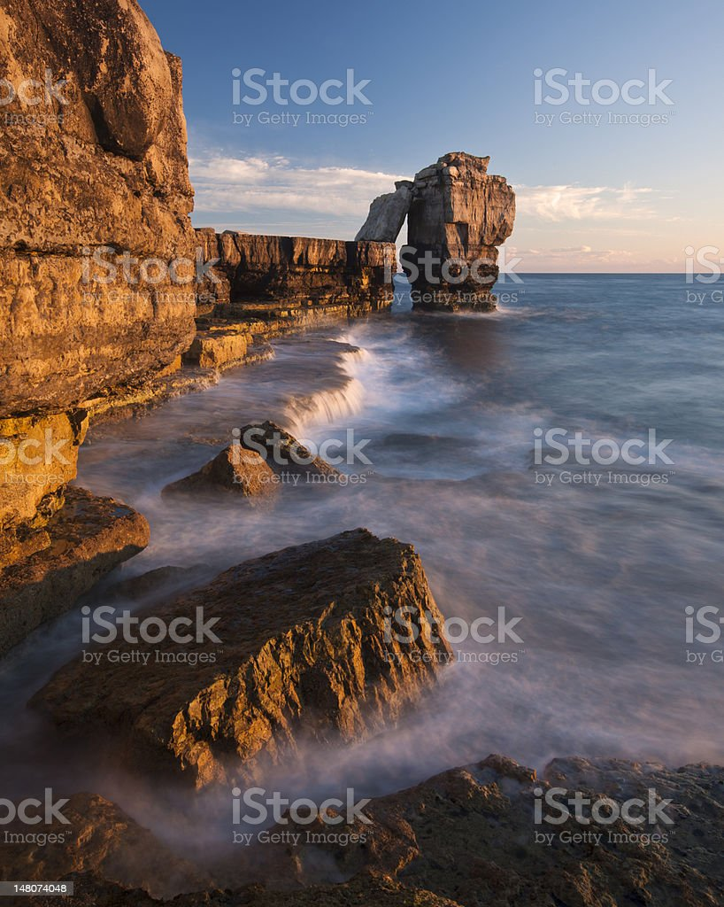 Portland Bill sunset stock photo