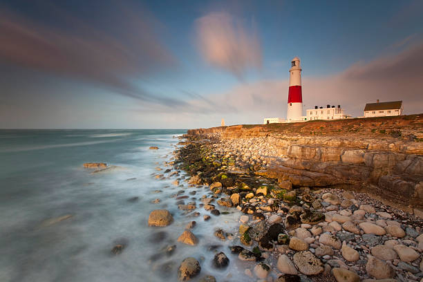 Portland Bill Twilight stock photo