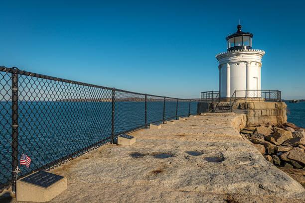 Portland Breakwater Lighthouse - Bug Light stock photo