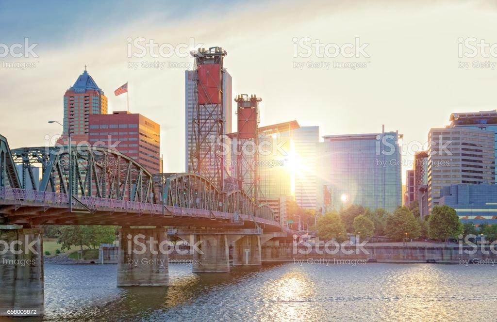 Portland cityscape stock photo