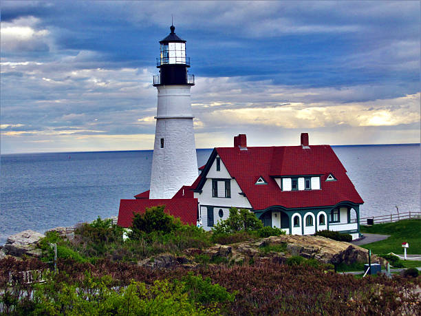 Portland Head Light, Cape Elizabeth, Maine. stock photo