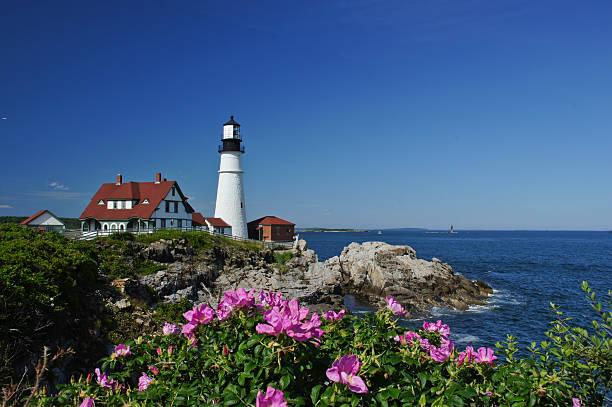 Portland Head Light Lighthouse in Maine stock photo