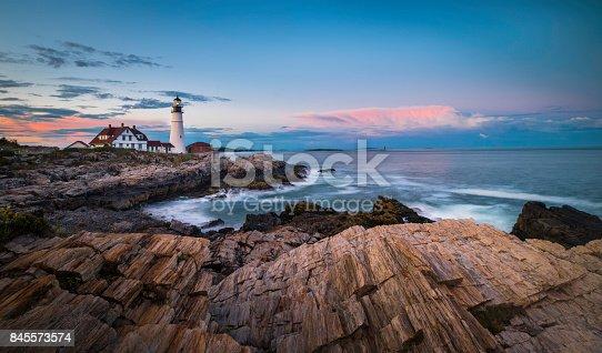 Atlantic Ocean, Lighthouse, Sea, Water, Portland - Maine