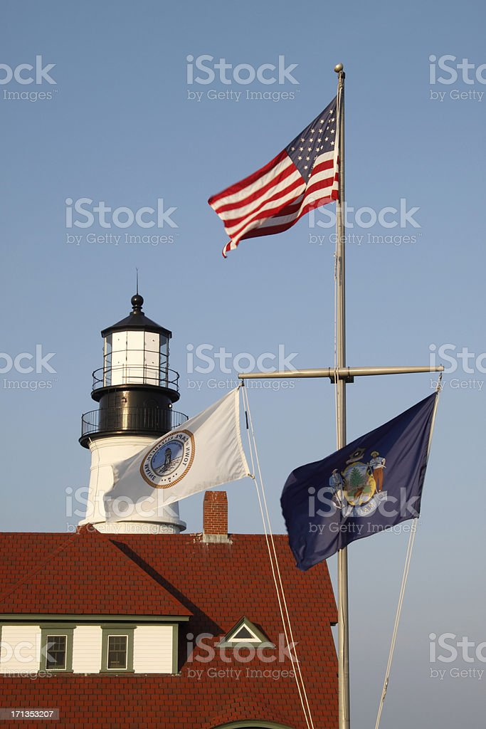Portland Head lighthouse close up royalty-free stock photo