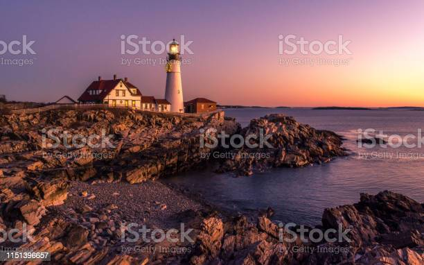 Photo of portland head lighthouse, maine, new england