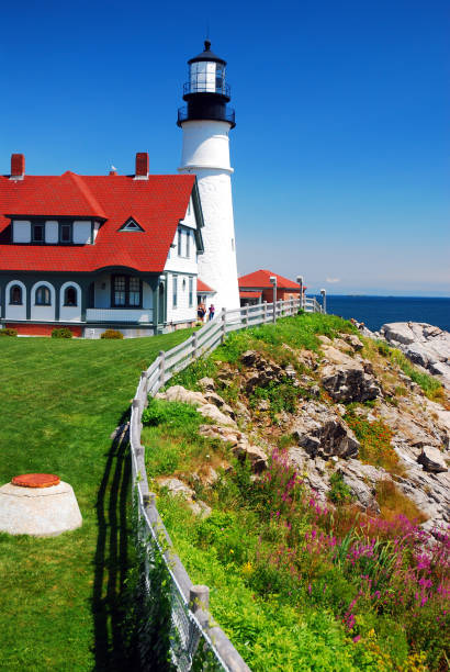 Portland Head Lighthouse, Maine stock photo