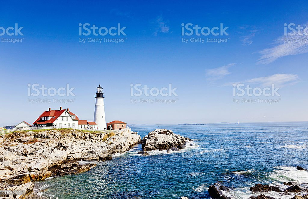 Portland Head Lighthouse, Maine royalty-free stock photo