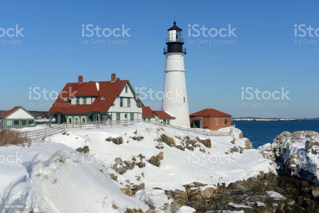 Portland Head Lighthouse, Maine, USA stock photo