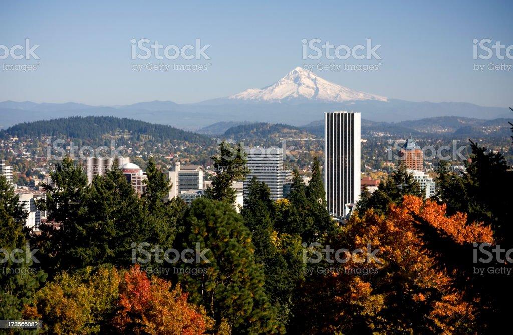 Portland in Autumn Colors stock photo
