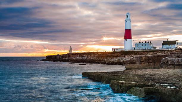 Portland Lighthouse, Dorset UK stock photo