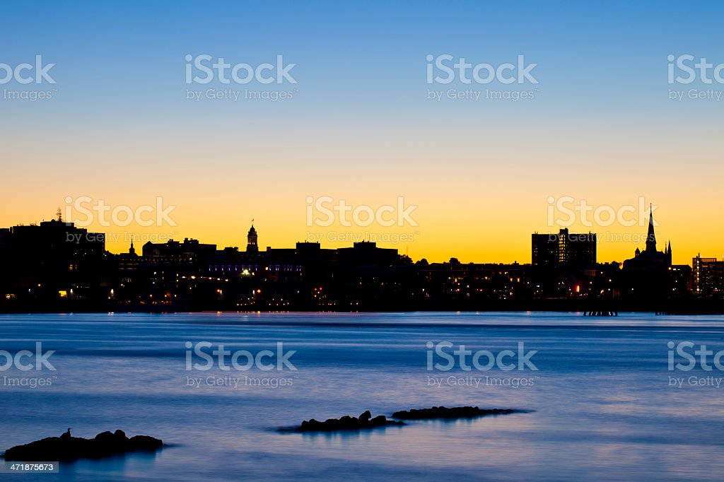 Portland, Maine At Sunset royalty-free stock photo