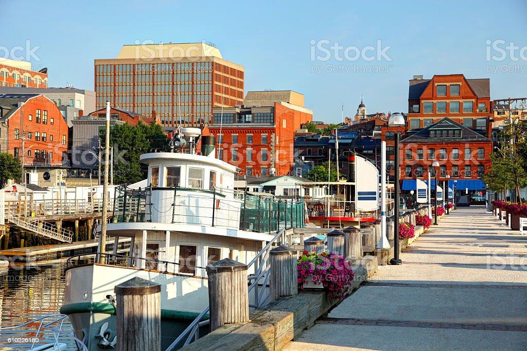 Portland Maine Harbor stock photo