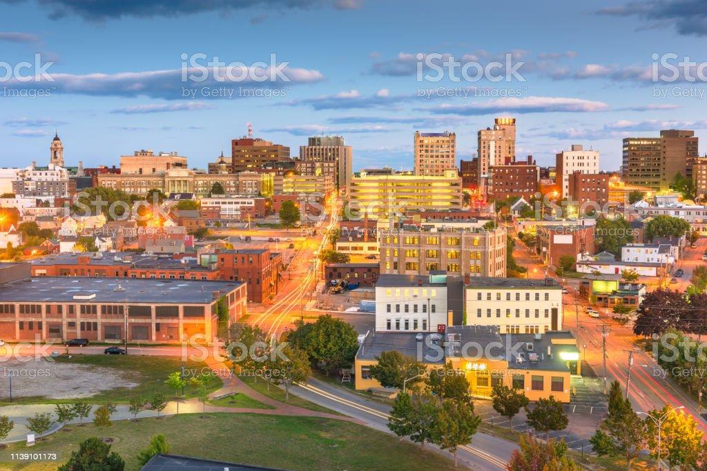 Portland Maine Usa Downtown Skyline Stock Photo - Download ...