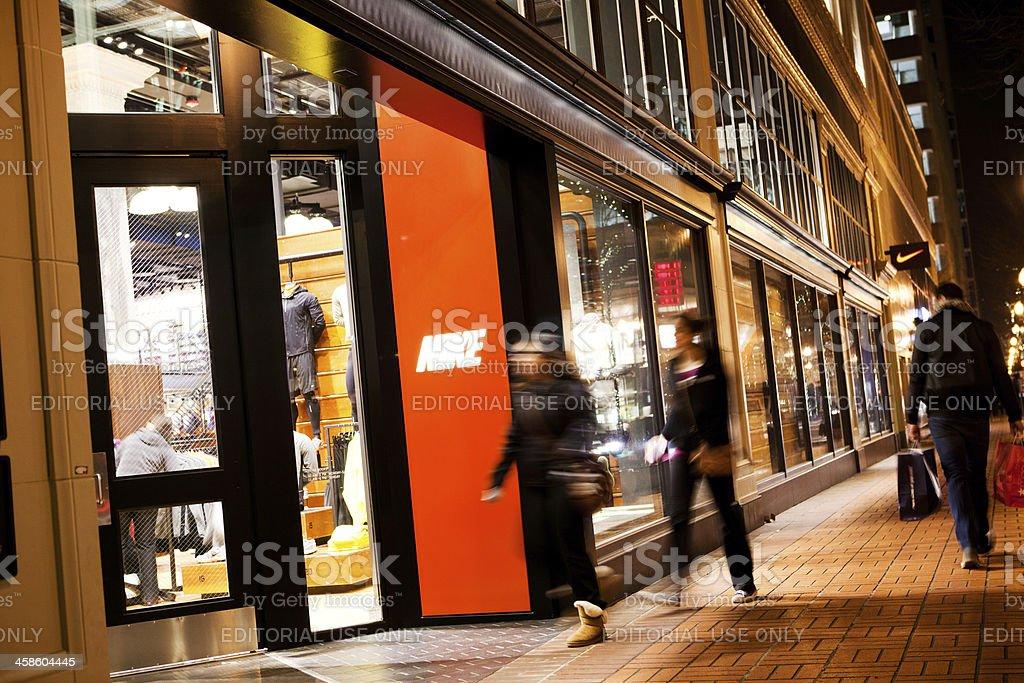 Portland Nike store royalty-free stock photo