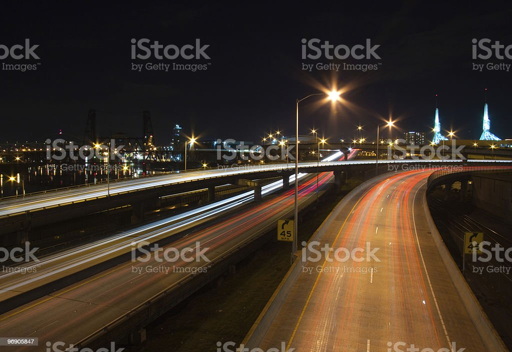Portland, OR Night royalty-free stock photo