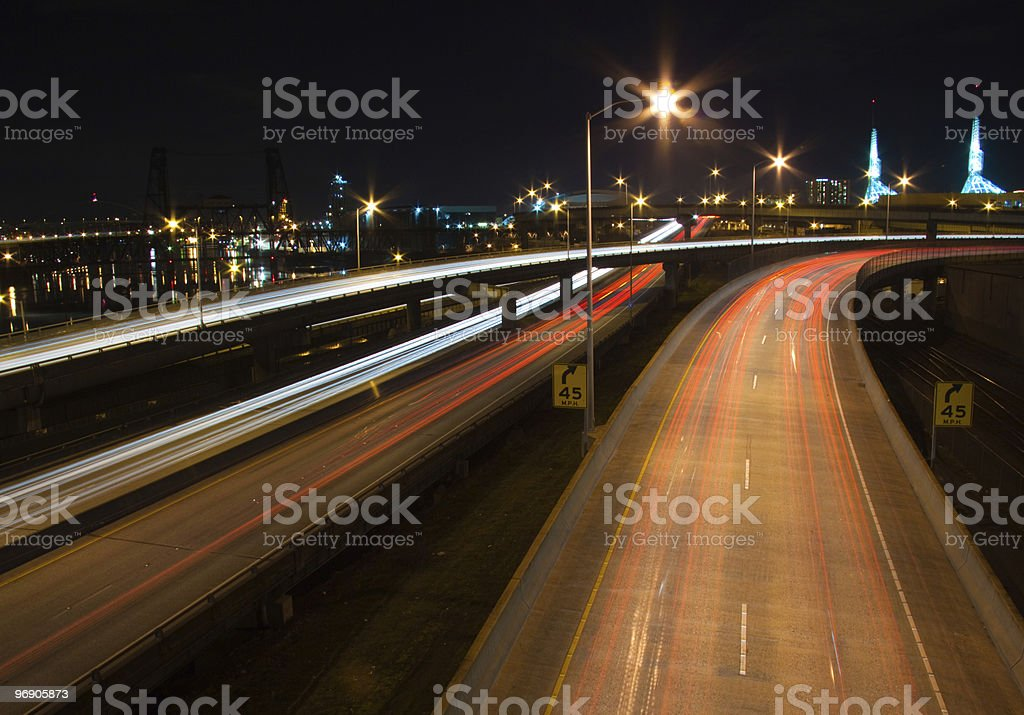 Portland, OR Night royalty-free stock photo