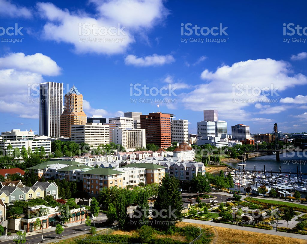 Portland, Oregon city skyline stock photo