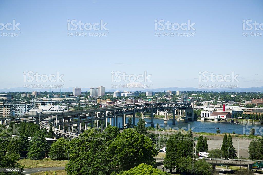 Portland, Oregon Cityscape stock photo