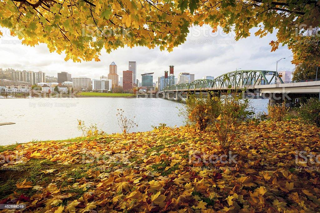 Portland Oregon Fall. stock photo