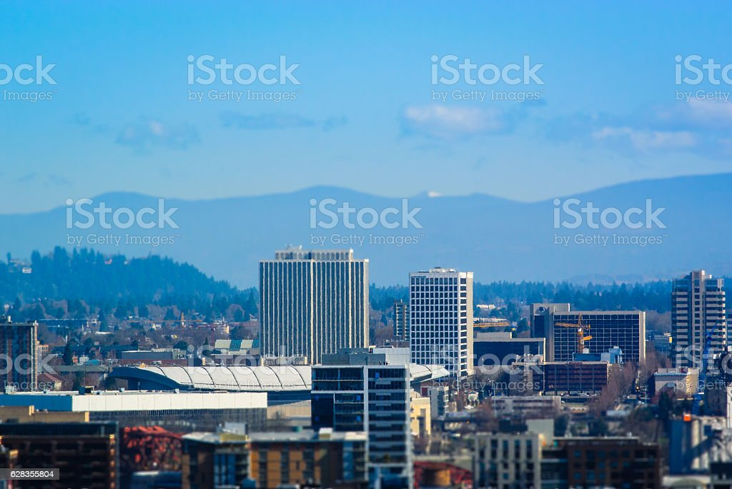 Portland, Oregon, Lloyd Center District stock photo