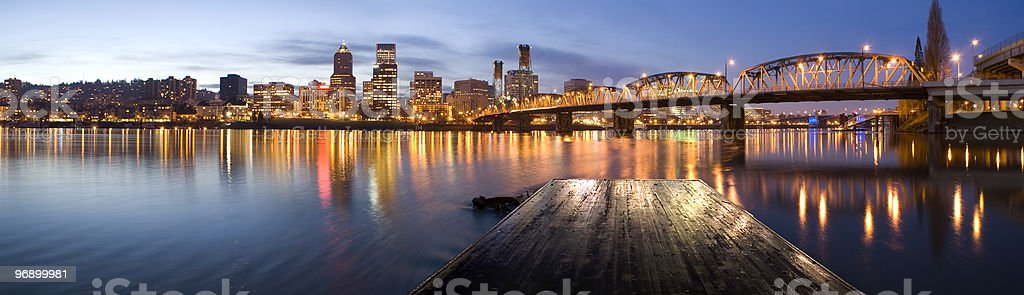 Portland, Oregon Panorama royalty-free stock photo