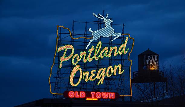 Portland, Oregon-Schild – Foto