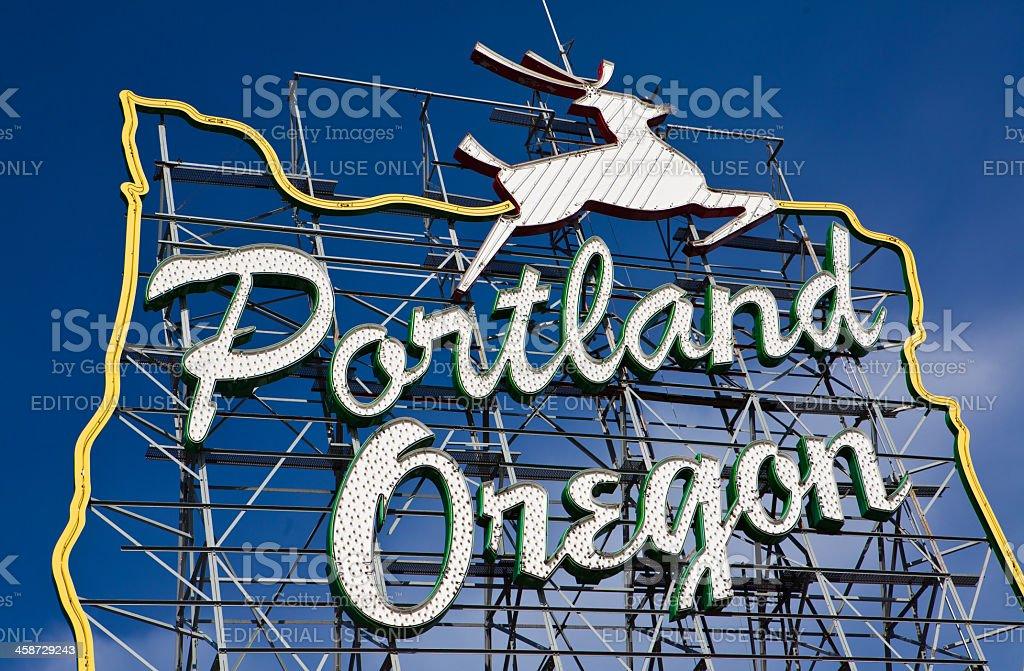 Portland. Oregon sign stock photo