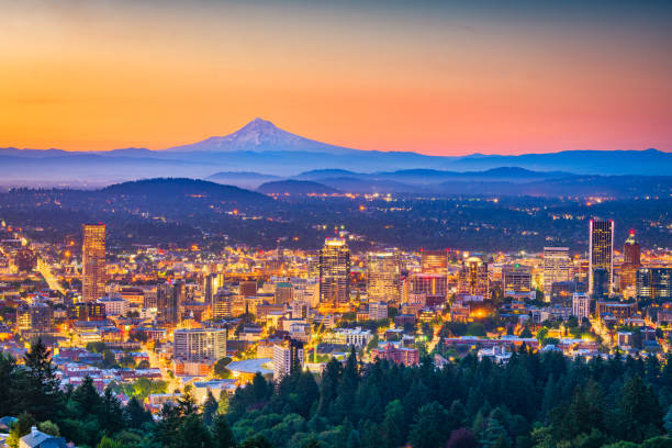 Skyline von Portland, Oregon, USA – Foto