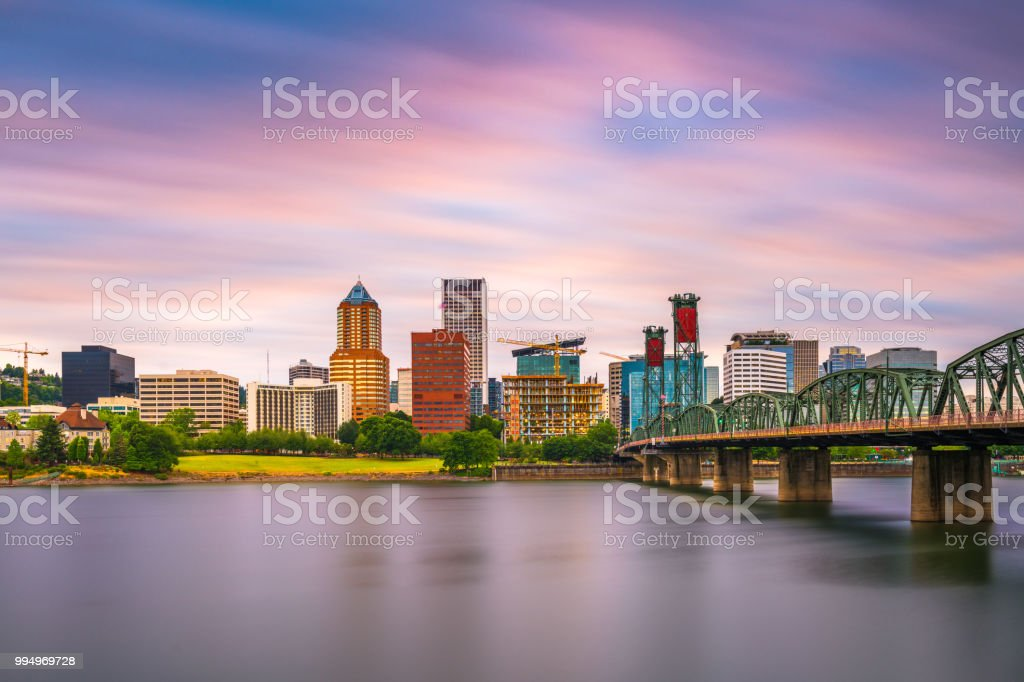 Portland, Oregon, USA Skyline stock photo