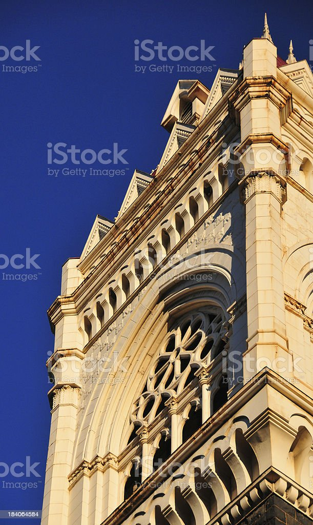 Portland, Oregon, USA: tower of the First Congregational Church royalty-free stock photo