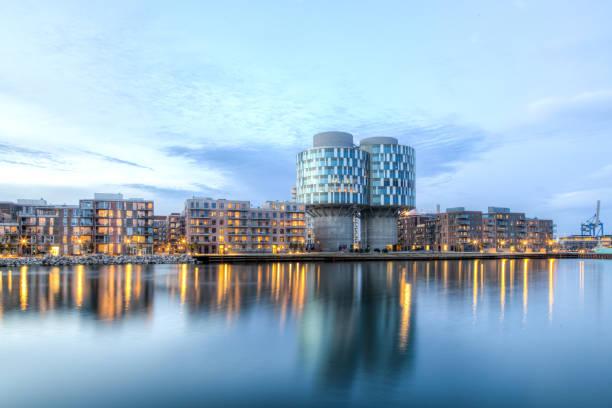 Portland Towers en el distrito de Nordhavn en Copenhague - foto de stock